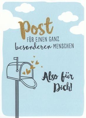 GOLDBEK Post für einen ganz besonderen Menschen Sternenstaub Postkarte