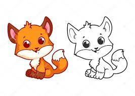 Resultado De Imagen Para Imagenes De Un Zorro Bebe De Nieve Para Dibujar Cute Animal Illustration Baby Wolf Baby Cartoon Drawing