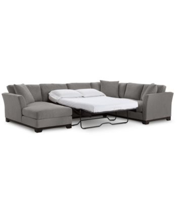 Furniture Elliot Ii 138 Fabric 3 Piece Chaise Sleeper Sectional