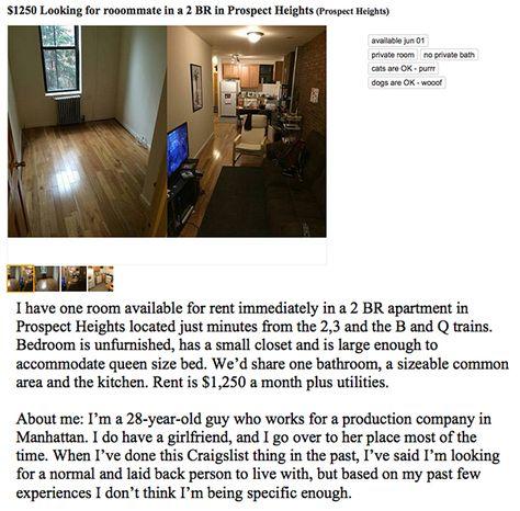 Guy Fed Up With Awful Roommates Posts Hilarious Craigslist Ad Photos Craigslist Funny Funny Craigslist Ads Sarcasm Humor