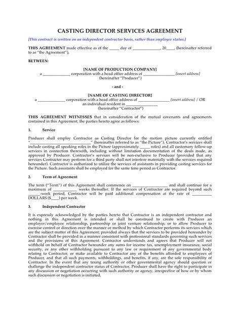 Producer Employment Contract http\/\/wwwmegadox\/d\/8966 Legal - temporary employment contract
