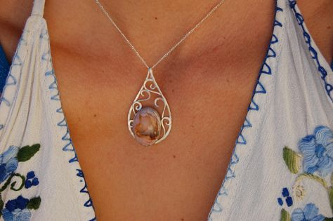 Woman Fashion 925 Bijoux En Argent Opale de feu Charme Collier Pendentif Chaîne