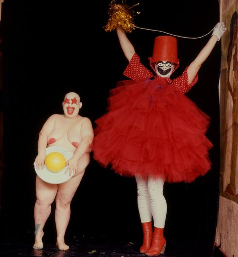 Cheese State — tomboyland:   Leigh Bowery with Fat Gill, in 1986....
