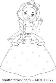 Little Princess Coloring Page Princess Coloring Pages Barbie Coloring Pages Princess Coloring