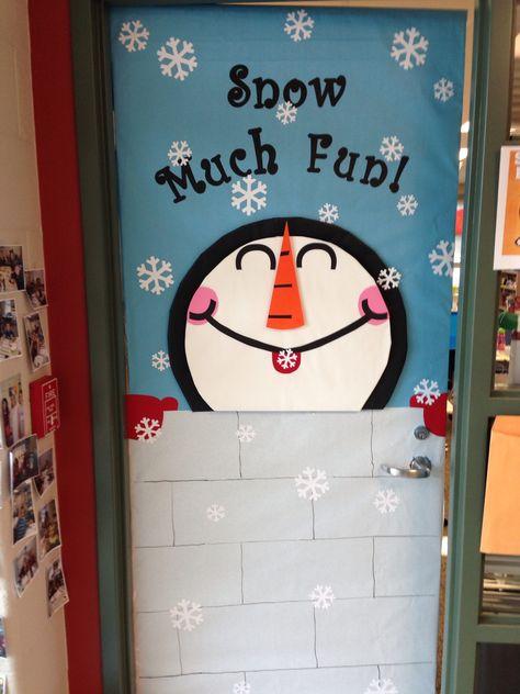Winter Classroom Door is snow much fun :D