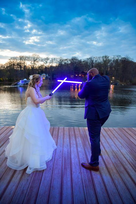 May the fourth Star Wars wedding at Rock Island Lake Club wedding venue | Photographer: Anthony Ziccardi Studios