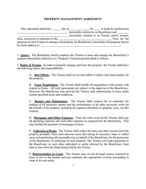 property management agreement this dated sample documents pdf word - investment management agreement