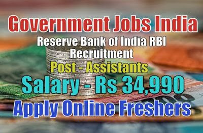 Reserve Bank Of India Rbi Recruitment 2020 For 926 Assistants