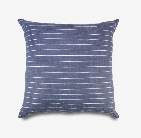 mini stripe pillow in denim blue pillows throw pillows neutral colour palette pinterest