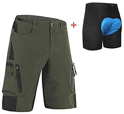 Amazon Com Ally Padded Mountain Bike Shorts Water Repellent Mens