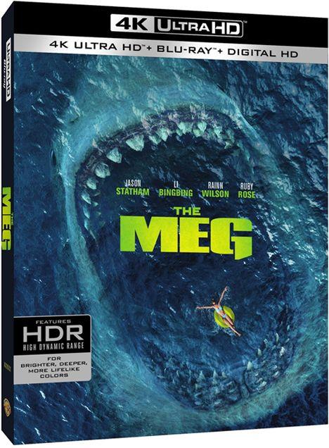 The Meg Chomps Down On 4k Ultra Hd Blu Ray Dvd November 13 Blu Ray Dvd Statham