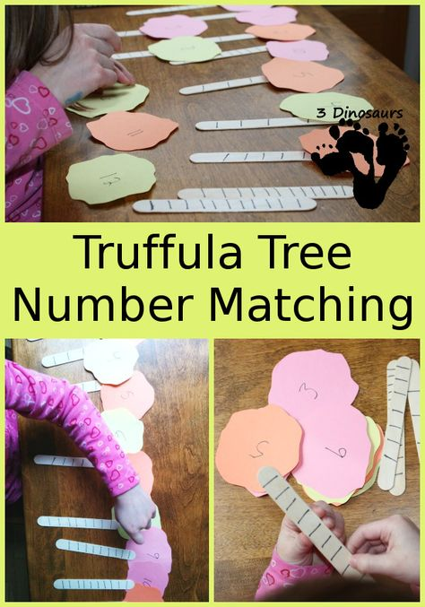 Truffula Treee Number Matching - the Lorax - 3Dinosaurs.com