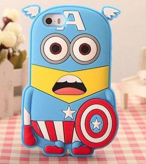 NEW Coque Case Captain America Méprisable Minion Silicone Iphone 4 5 6 Samsung   eBay