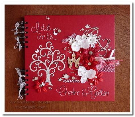 Livre D Or Charline Gaetan Rouge Blanc Bienvenu 3 In