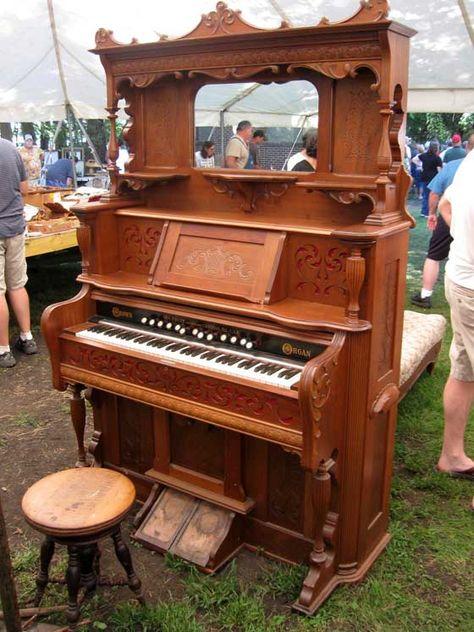 Antique pump organ...just like my grandmother's