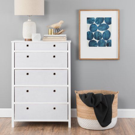 Ez Home Solutions Foldable Furniture 5 Drawer Tall Dresser 45a X 31a X 19a White Foldable Furniture Tall Dresser Decor Tall Dresser