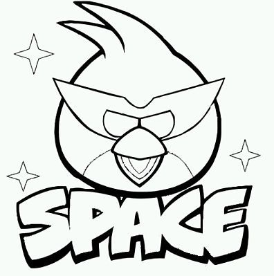 Angry Birds Para Pintar Parte 1 Bird Coloring Pages Space
