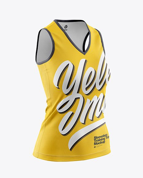 Download Women S Sleeveless Training Top Mockup In Apparel Mockups On Yellow Images Object Mockups Training Tops Design Mockup Free Mockup Psd