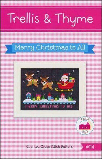 Merry Christmas To All Cross Stitch Pattern Cross Stitch