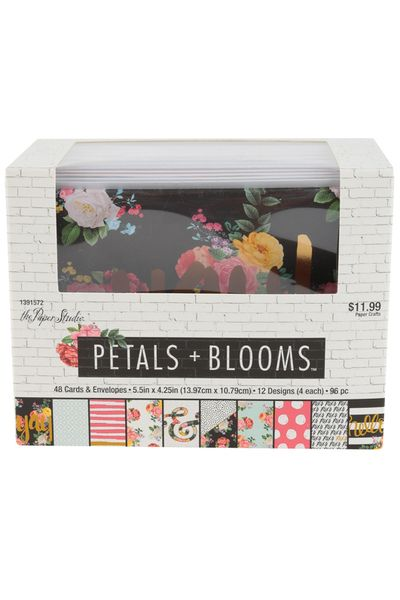 The Paper Studio Petals Blooms Note Cards With Envelopes 5 1 2 X 4 1 4 Inches 48 Cards The Paper Studio Cards Note Cards