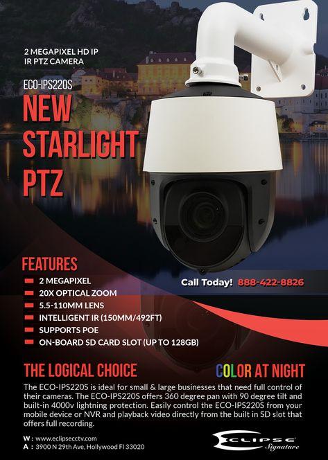 ECO-IPS220S 2 Megapixel HD IP IR PTZ Camera
