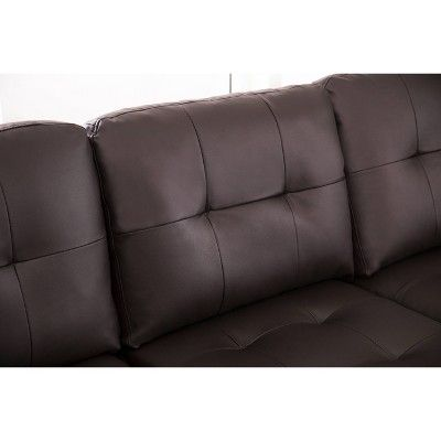 Pleasant Taylor Leather Sectional And Ottoman Espresso Abbyson Ncnpc Chair Design For Home Ncnpcorg