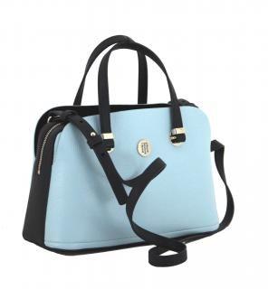 Handtasche Th Core Satchel Tommy Hilfiger Hellblau Navy Taschen Handtaschen Hellblau