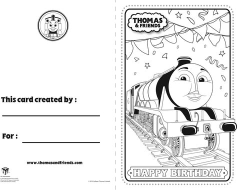 Thomas And Friends Birthday Card Gordon Thomasandfriends Thomasthetankengine Birthdaycard Thomas And Friends Birthday Cards For Friends Friend Birthday