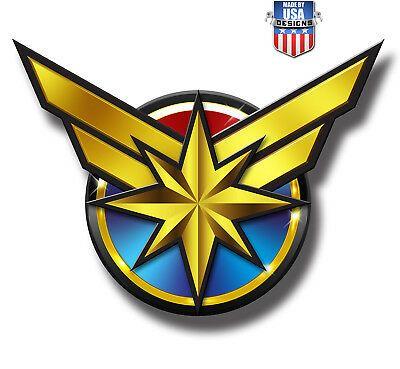 Captain Marvel Logo Window Decal Sticker Brand New Marvel Comics 4 50 Picclick Marvel Logo Captain Marvel Marvel Cards