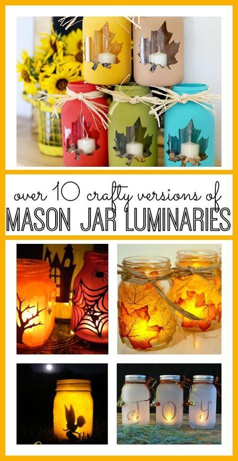 Mason Jar Luminary Ideas - Sugar Bee Crafts
