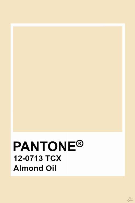 Pantone Almond Oil