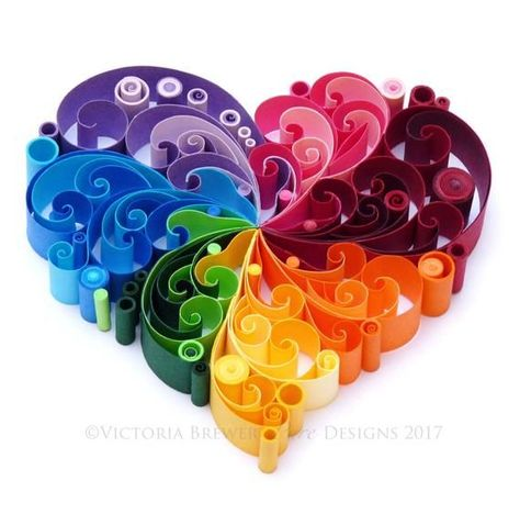 Items similar to Quilled Paper Heart, Valentine's Day, / #Day #heart #Items #paper #Quilled #QuilledPaperArtpattern #similar #Valentine39s