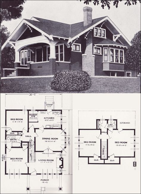 Bungalow House Plans   From 101 Modern Homes by Standard Homes Company, 1923 (This blueprint is almost the exact idea I want for a home- Dream home!)
