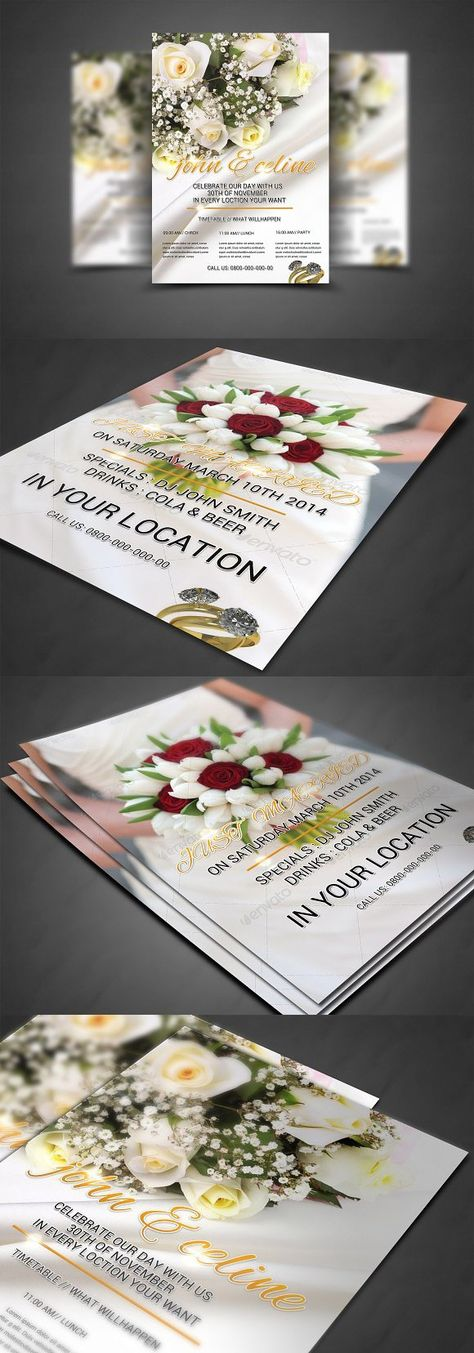 6 Photography Flyer Template Bundle Wedding Fonts Wedding Fonts - wedding flyer