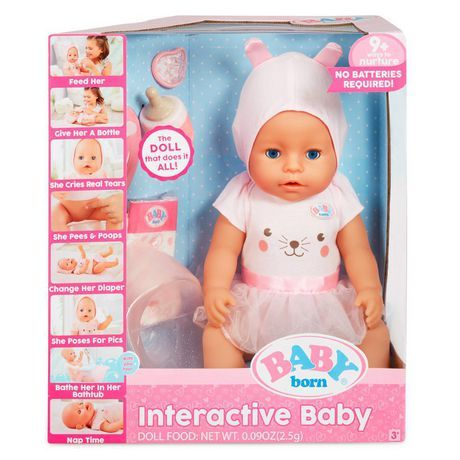Buy Baby Born Interactive Doll From Walmart Canada Shop For More Baby Realistic Baby Dolls Availa Interactive Baby Baby Alive Doll Clothes Baby Doll Nursery
