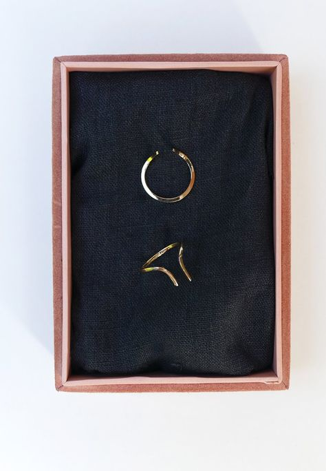 GOLD HORN RING - Solid 18ct Gold / Extra Small