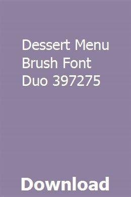 Dessert Menu Brush Font Duo 397275 Download Repair Manuals Tax Guide Brush Font