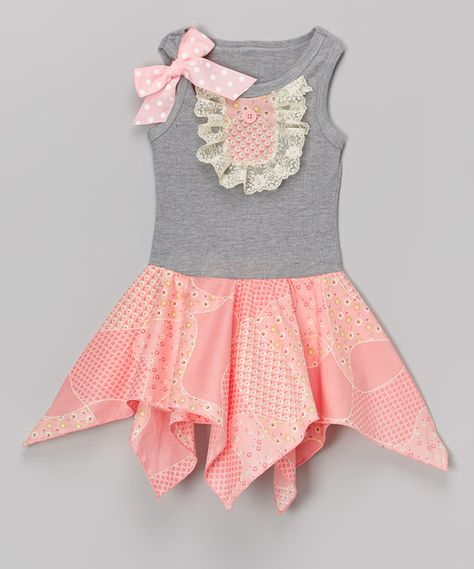 Look at this Tiny Pink Daisies Handkerchief Dress - Infant, Toddler & Girls on #zulily today!