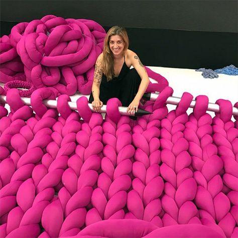 Meet Anne Galante from São Paulo, aka The 'Big Knitter' ... via 60 Second Docs #knitting #art #60SecondDocs
