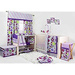 Botanical Purple 10 Pc Crib Set Bumper Free Crib Bedding Crib Bedding Sets Blue Crib Bedding Crib Bedding Girl Blue Crib