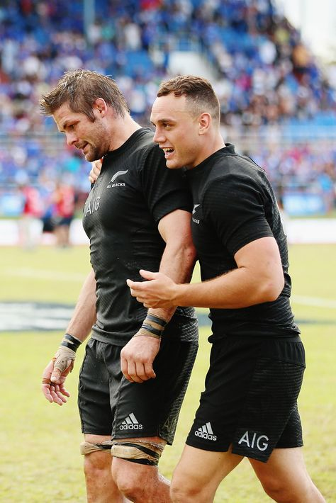 Richie Mccaw Photos Photos - Richie McCaw and Israel Dagg of thwe New Zealand All Blacks walk off after winning the International Test match between Samoa and the New Zealand All Blacks at Apia Stadium on July 2015 in Apia, Samoa. - Samoa v New Zealand