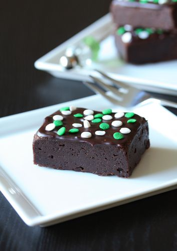 St. Patrick's Day Brownies | My Baking Addiction