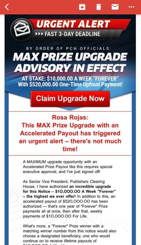 Pch Actnow Elevated Prize Adjustment i claim pchgwyno 11000