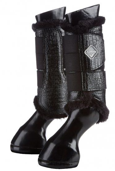 Hkm Dressage//Brushing Fleece Lined Boots-White Medium