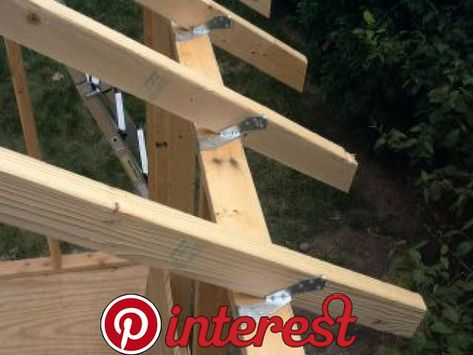 Shed Construction Project – Framing Rafters This is a continuation of the article series on the construction of my shed. Part 1 – Today we cut and attached all the rafters. Everything fit well and well fairly smoothly.
