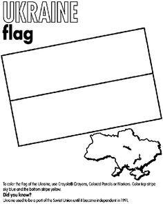Ukraine Flag Coloring Page Ukraine Coloring Page Crayola Com
