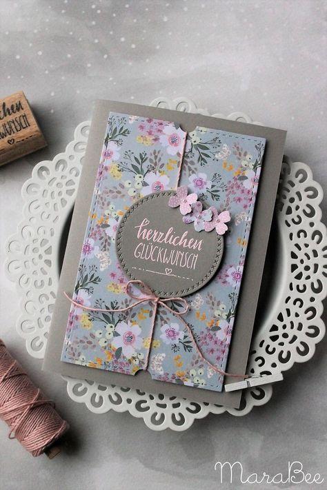 Birthday card in pink - flowery and fresh!  #birthday #flowery #fresh #PapierBastelideen