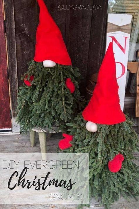 DIY Evergreen Christmas Gnomes