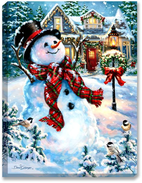 Glow Decor - An Old Fashioned Christmas - Illuminated Fine Art by Dona Gelsinger - 1