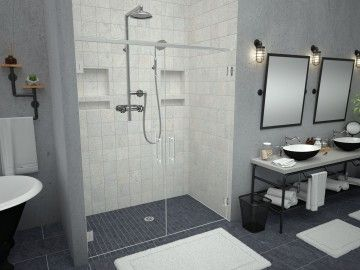 Redi Niche Recessed Shower Shelves With Images Shower Pan Tub To Shower Conversion Small Bathroom